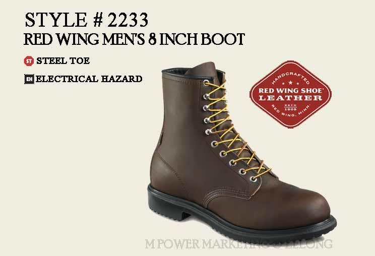41edf5bfd7c RED WING 2233 MEN'S 8-INCH BOOT Safety Shoes Working Shoes