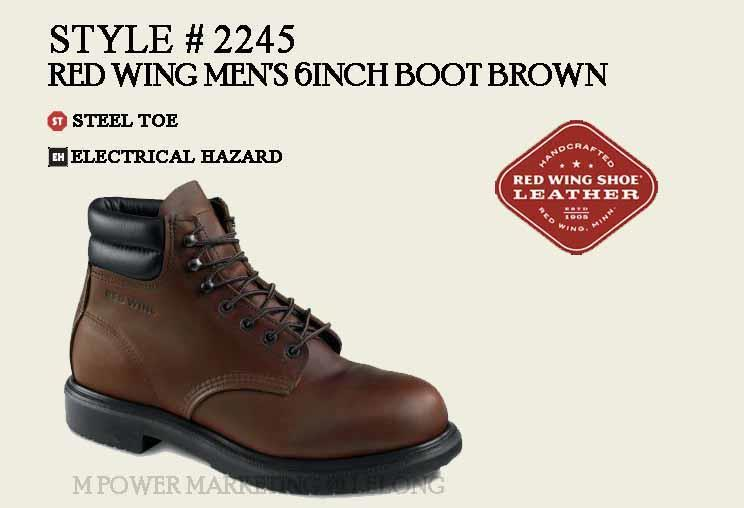 7f7d5fd1e79 RED WING 2245 MEN'S 6-INCH BOOT Safety Shoes Working Shoes