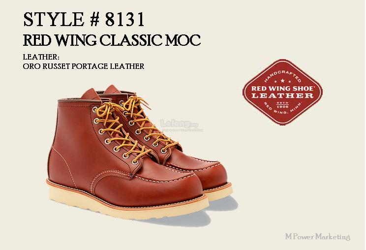 Red Wing Classic MOC Boot Shoes Made In USA 8131. ‹ ›