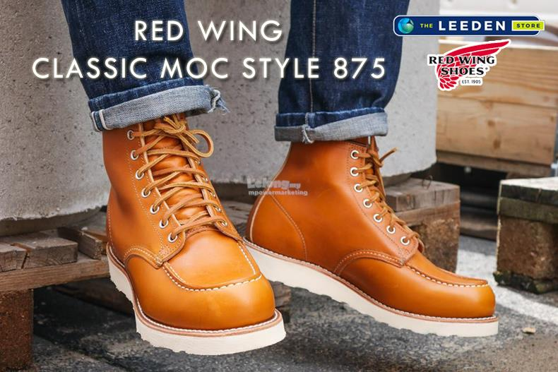 7b614cf4899 Red Wing Classic MOC ORO Legacy Boot Shoes Made In USA 875