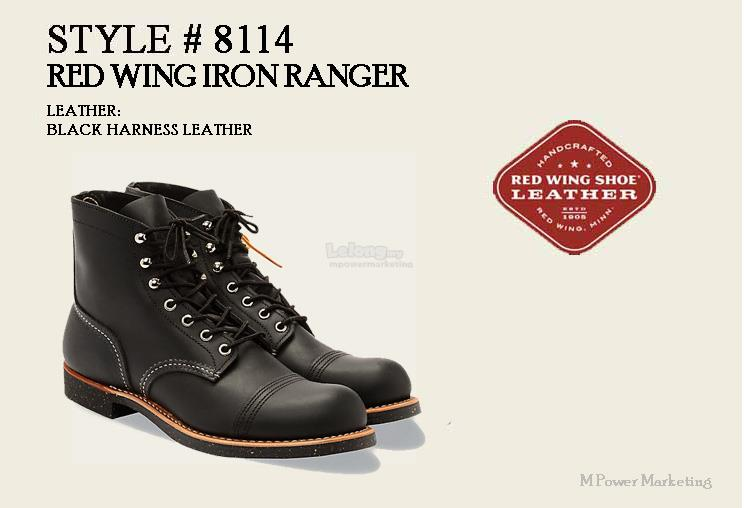 Red Wing Iron Ranger Boot Shoes Made In USA 8114
