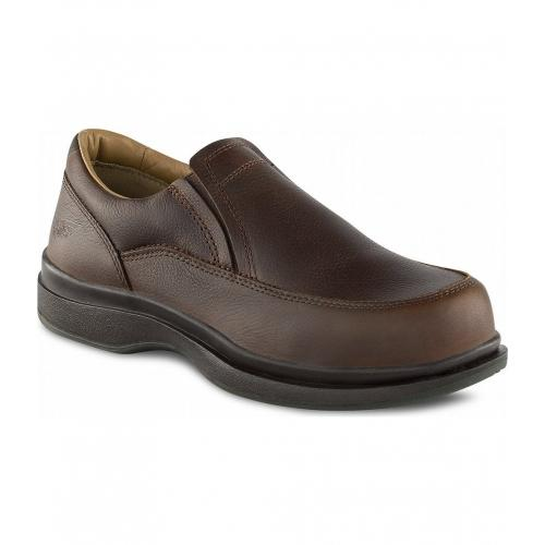 Red Wing Safety Shoes Men Slip On Brown EH ST 6647 FOC Delivery No GST