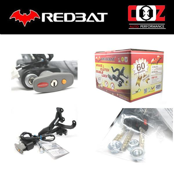 REDBAT DOUBLE BRAKE PEDAL LOCK HONDA CITY 2003-2014
