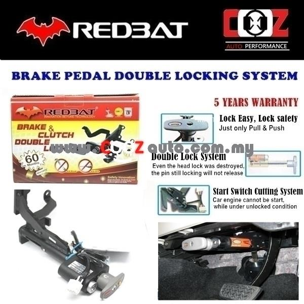 REDBAT DOUBLE BRAKE PEDAL LOCK VOLKSWAGEN BETTLE 2013-2014