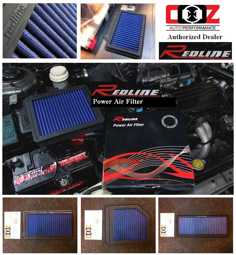 REDLINE HIGH FLOW WASHABLE DROP IN AIR FILTER HONDA ACCORD CM5 2.0/2.4