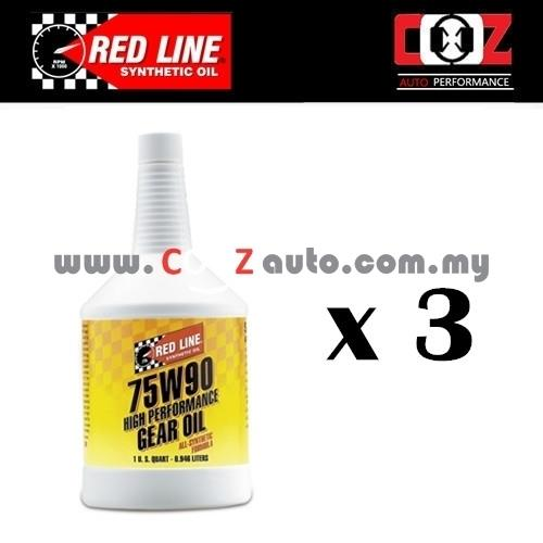 REDLINE (LSD) TRANSMISSION FLUIDS 75W90 GL-5 GEAR OIL ( 3 BOTTLES