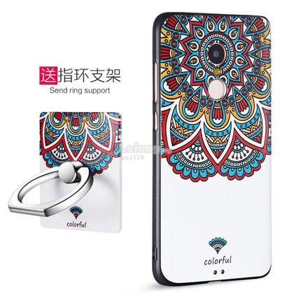 Redmi Hong Mi Note 4 3d relief back case casing cover + ring