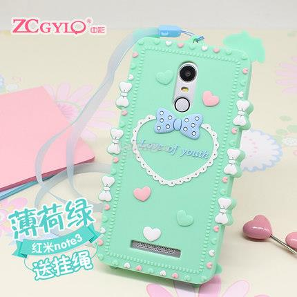 redmi hongmi mi note 3 silicone korea cute case casing cover