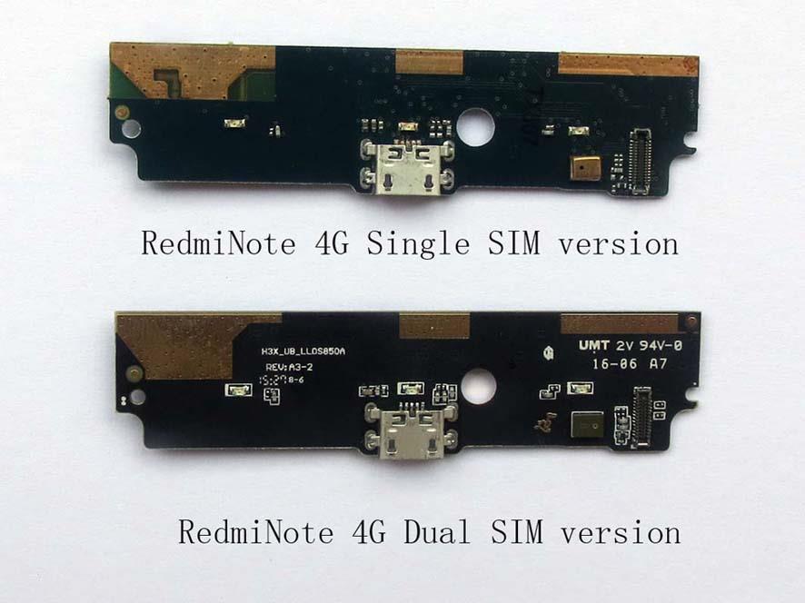 Redmi Note 4G Dual SIM Charging USB Port Ribbon Board with Mic