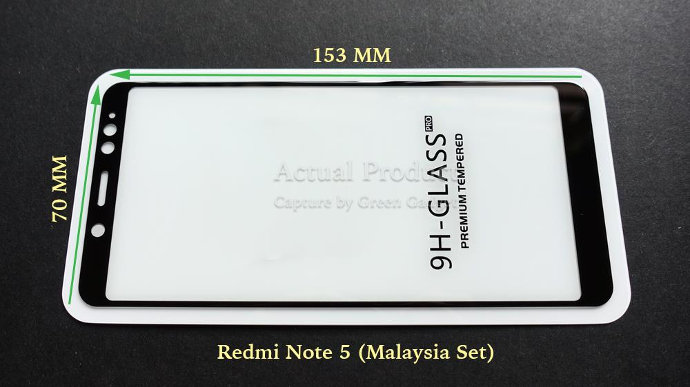 Redmi Note 5 Full Glue Screen Protector Tempered Glass