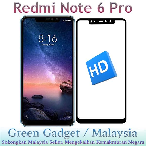 Redmi Note 6 Pro Full Glue Screen Protector Tempered Glass