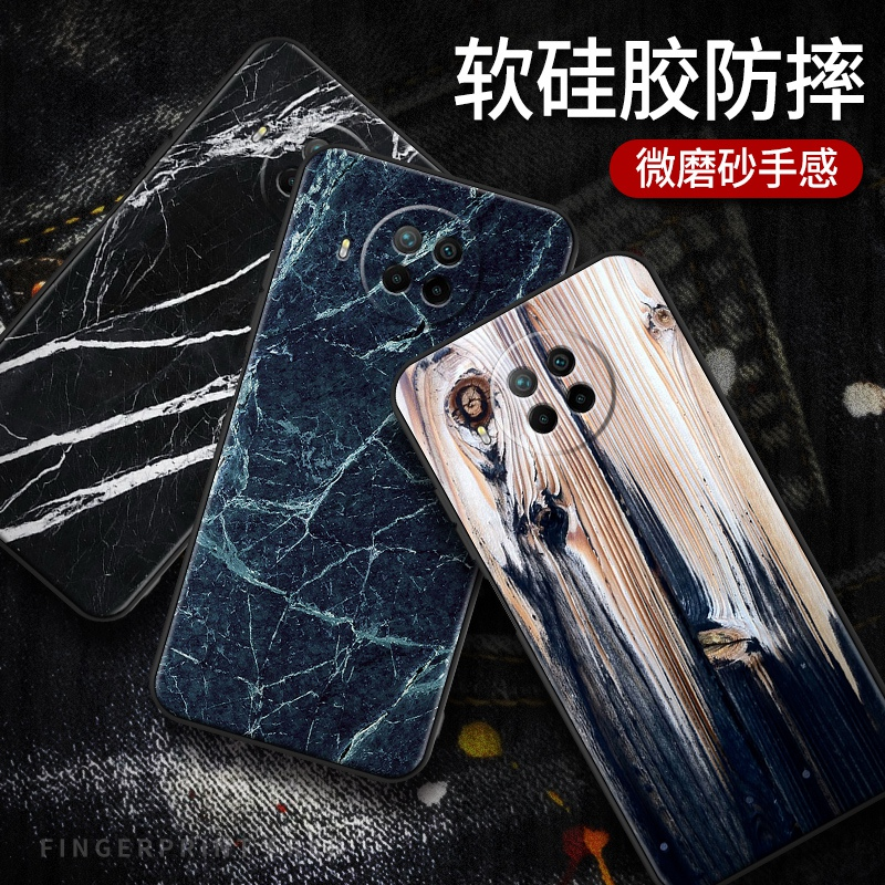 Redmi note9 5G note9pro 4G marble luxury back wood Case Casing Cover