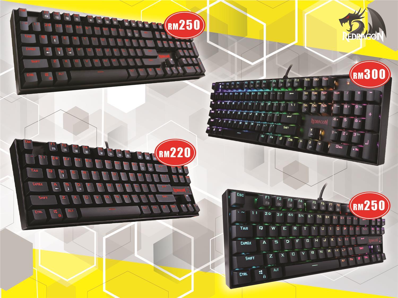 Mechanical Keyboard Rgb Price Harga In Malaysia Logitech G512 Gaming Gx Blue Redragon Kumara And Vara Single Led