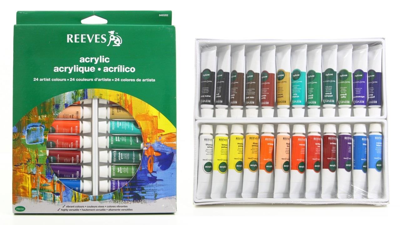 REEVES Acrylic Color Paint 24 Colours end 592017 158 PM