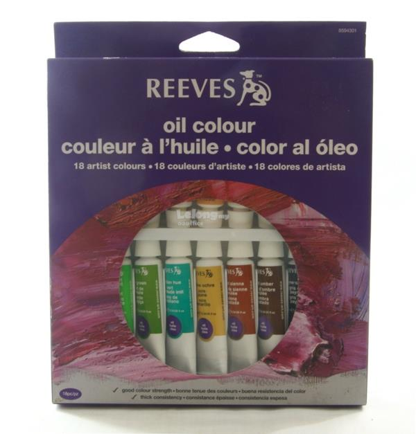 REEVES Oil Color 18 artist colours 18x10ml
