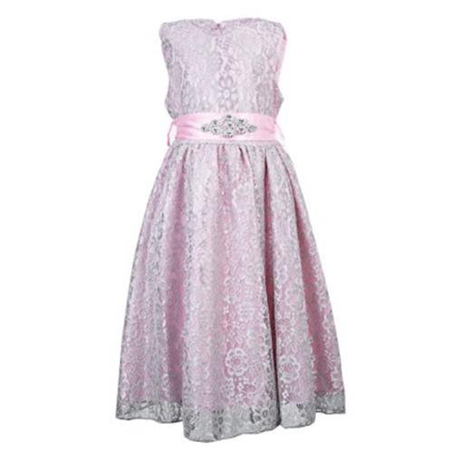 ecf04c2e9ac46 REFINED V-NECK SLEEVELESS FLOWER LACE PARTY DRESS WITH RHINESTONE BELT FOR  GIR. ‹ ›