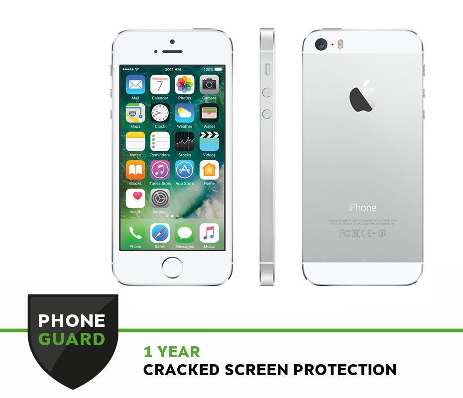 (REFURBISHED) Apple iPhone 5S 32GB Silver [Grade D]