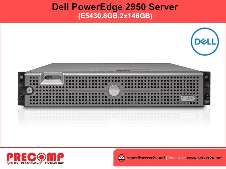 (Refurbished) Dell PowerEdge 2950 Server (E5430.8GB.2x146GB)