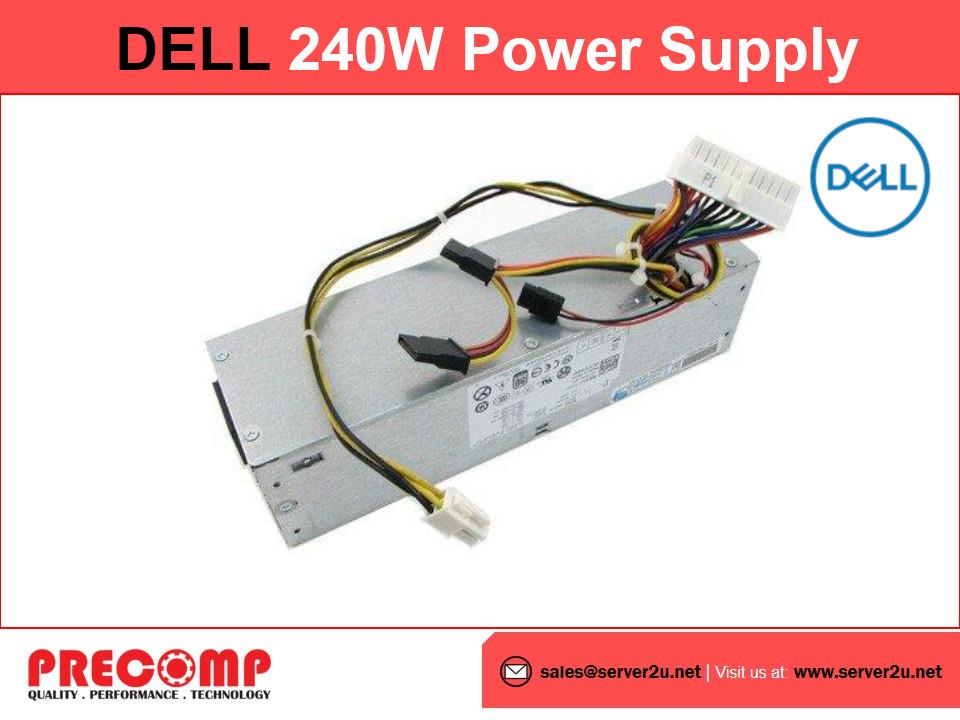 (Refurbished) Dell SFF 240W Power Supply for Optiplex 390/790/990 SFF