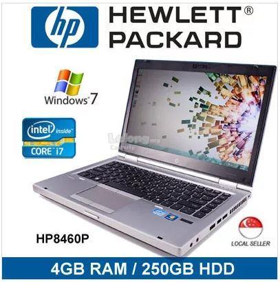 Refurbished HP Elitebook 8460p i7/4GB RAM/250GB HDD