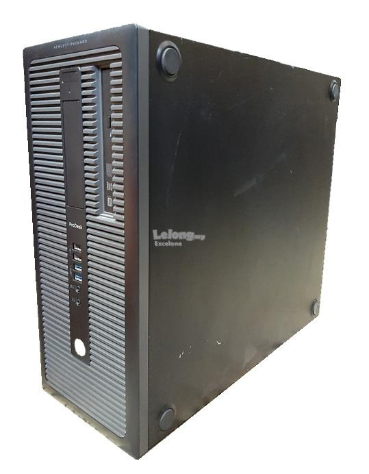 Refurbished Used HP ProDesk 600 G1 Tower with 20' Monitor/ i5 4th Gen