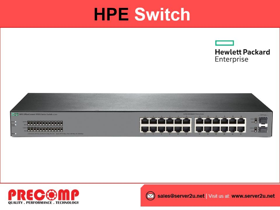 (Refurbished) HPE OfficeConnect 1920S 24G 2SFP HP Switch (JL381A)