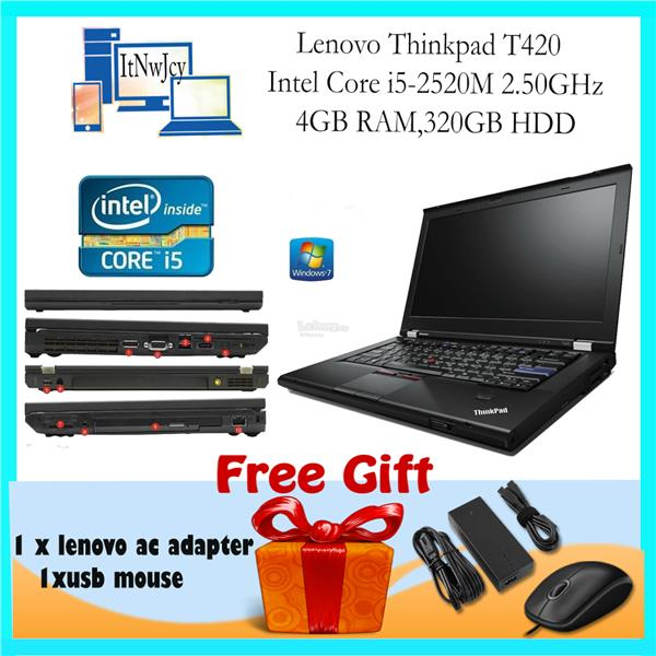 [Refurbished]Lenovo Thinkpad T420 (i5-2520M,4GB RAM,320GB HDD)