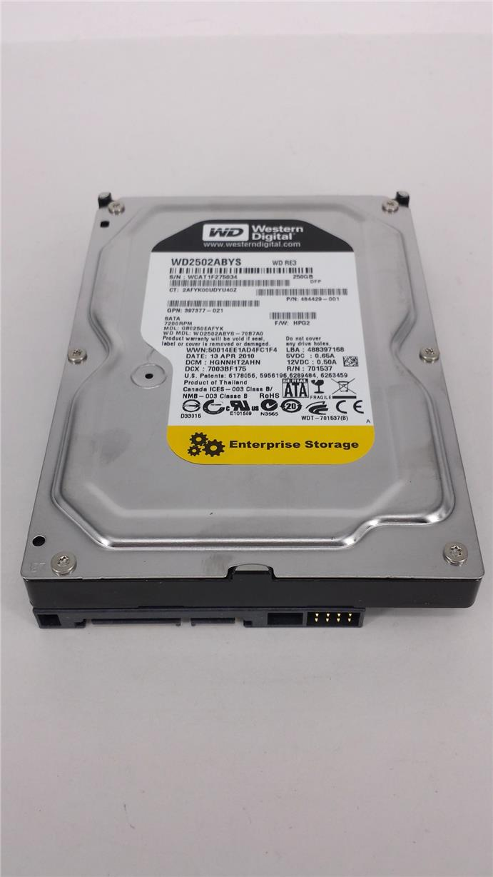 (Refurbished) Western Digital 250GB SATA 7.200rpm 3.5