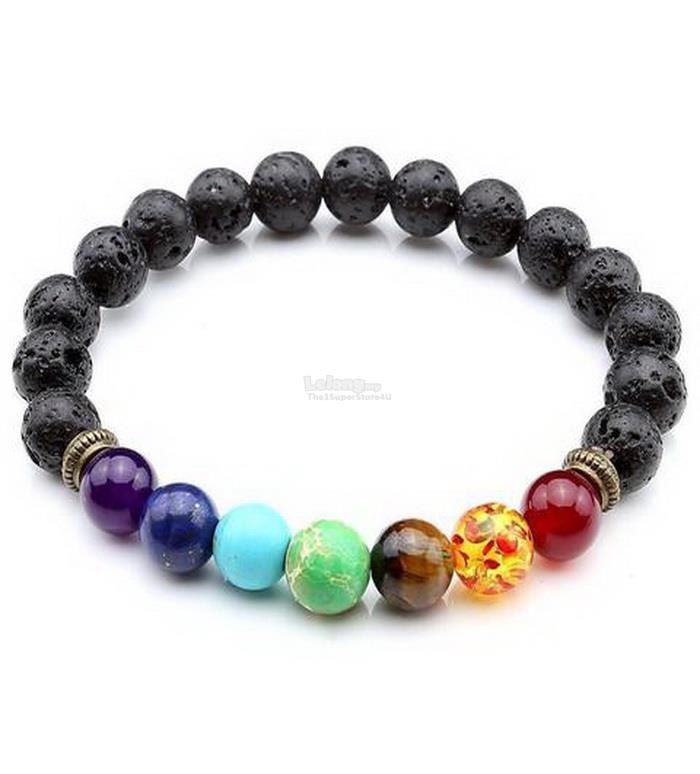 goamber rounded healing amber chips bracelet multicoloured uk polished