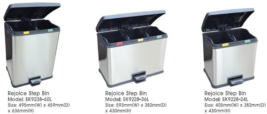 Rejoice Step Bin Recycle 2In1 EK9228-24L EK9238-60L 3In1 EK9228-36L