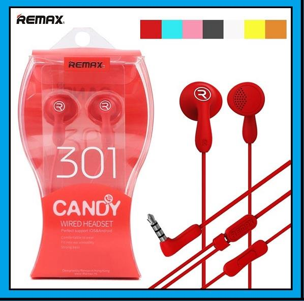 REMAX 301 Candy Colorful Dynamic Driver HIFI Wired Earphone