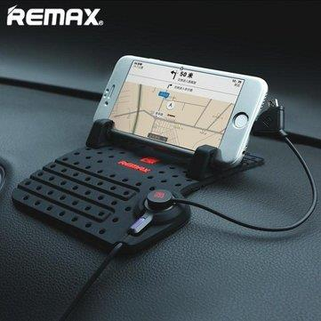 REMAX CAR HOLDER WITH CHARGER 2 IN 1