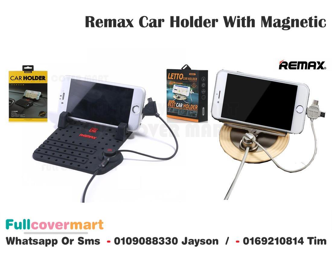 Remax Car Holder Navigation With Magnetic Absorption Charging Port. ‹ ›