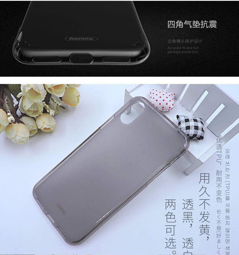 Remax Creative iPhone X Protective Frosted Matte Back Case Cover