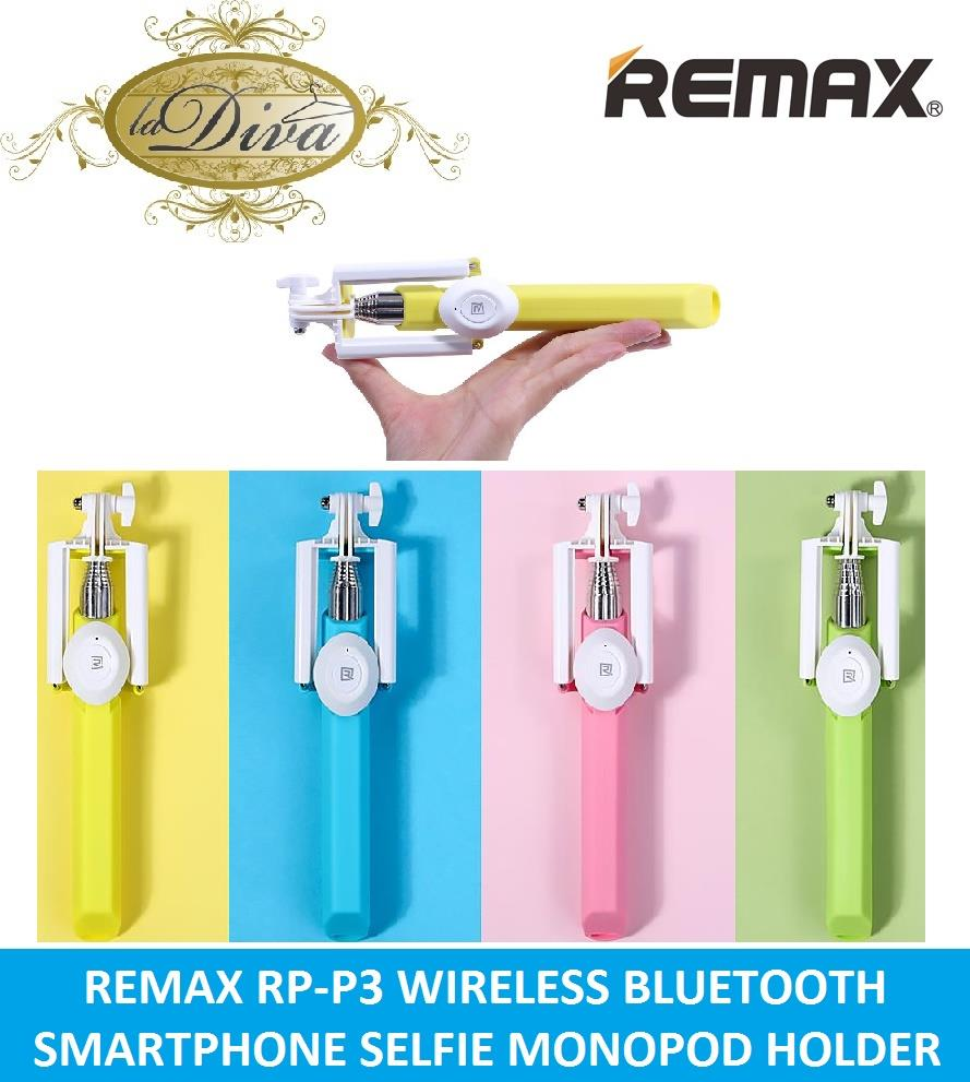 REMAX MINI P3 BLUETOOTH WIRELESS SELFIE MONOPOD HOLDER FOR SMARTPHONE