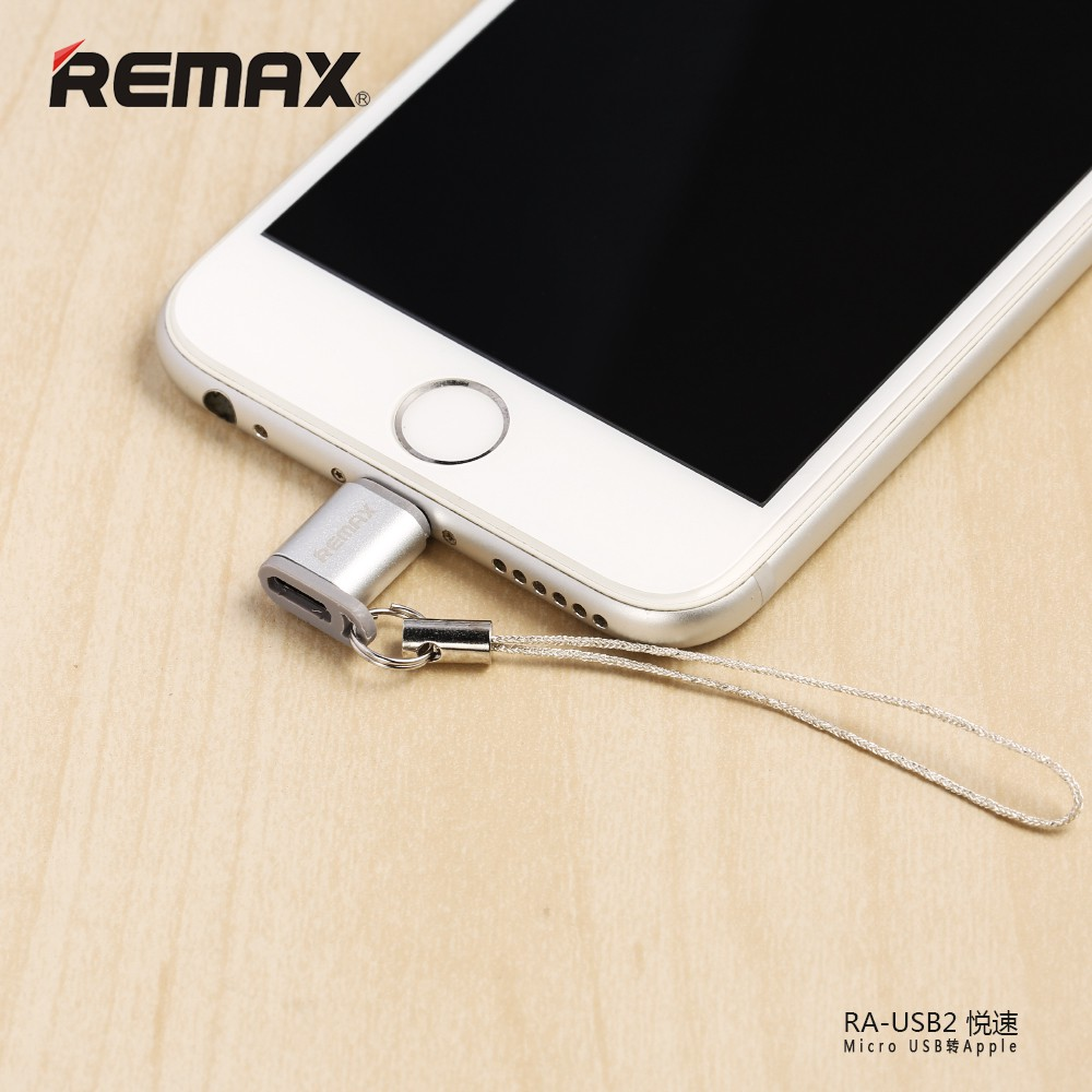 REMAX RA-USB2 MICRO USB TO LIGHTNING APPLE CONVERTER. CHARGING  & DATA TRA