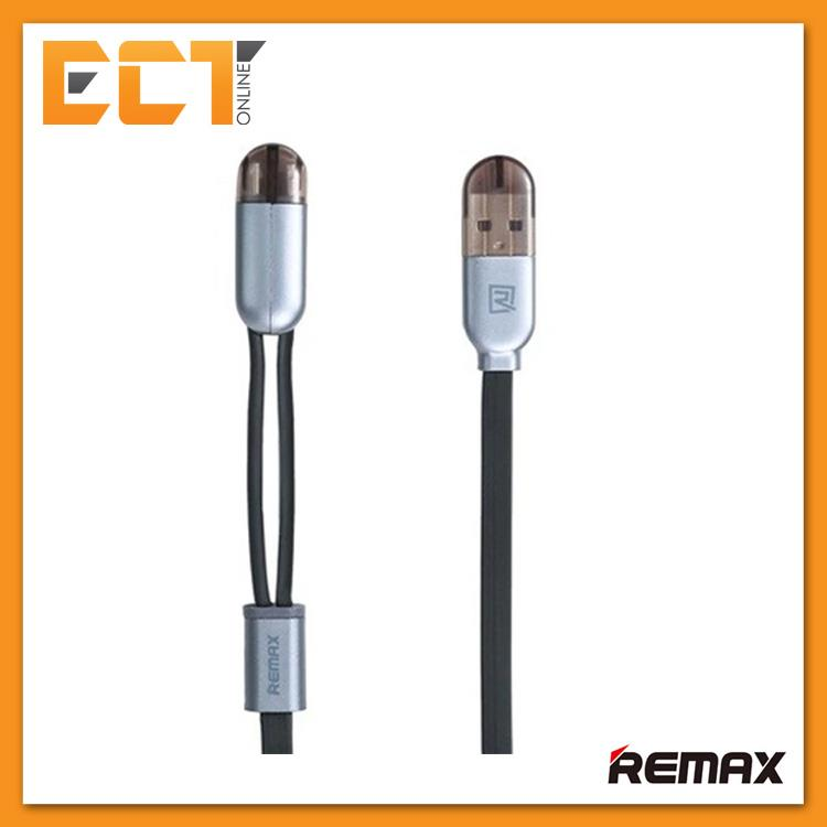 Remax RC-025T 2 in 1 Micro USB with Lightning Magnetic Charging(Black)