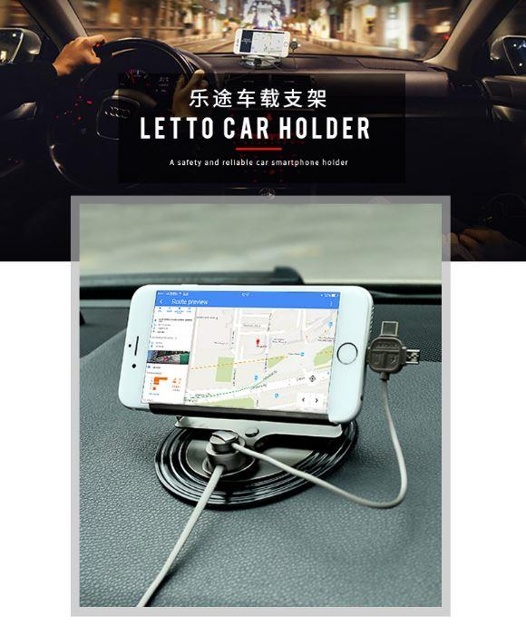 REMAX RC-FC2 LETTO Universal 2.1A 3 in 1 Phone Car Holder Stand Mount
