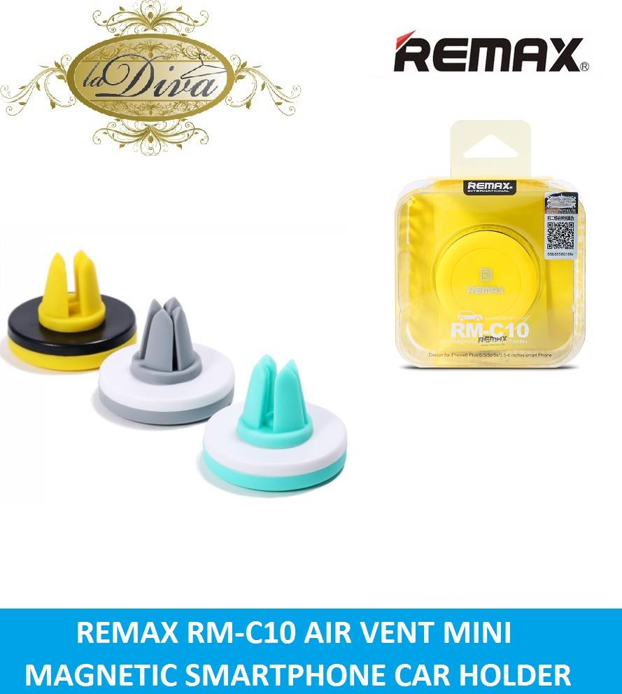 REMAX RM-C10 MAGNETIC AIR VENT CLIP HOLDER FOR SMARTPHONE. ‹ ›