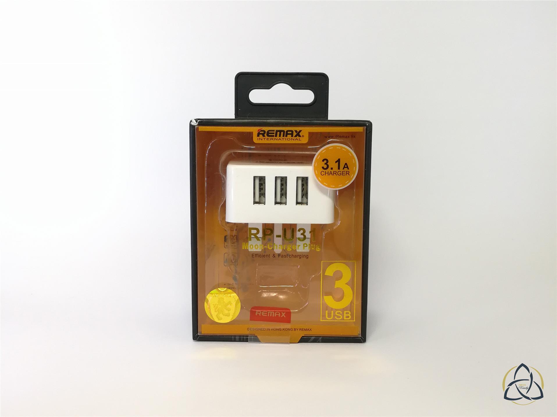 Remax RP U31 Moon 3 USB Charger Plug