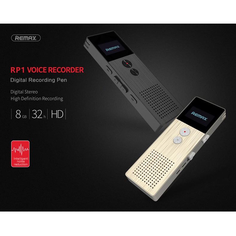 REMAX RP1 8GB DIGITAL AUDIO VOICE RECORDER USB2 0 MP3 MUSIC PLAYER