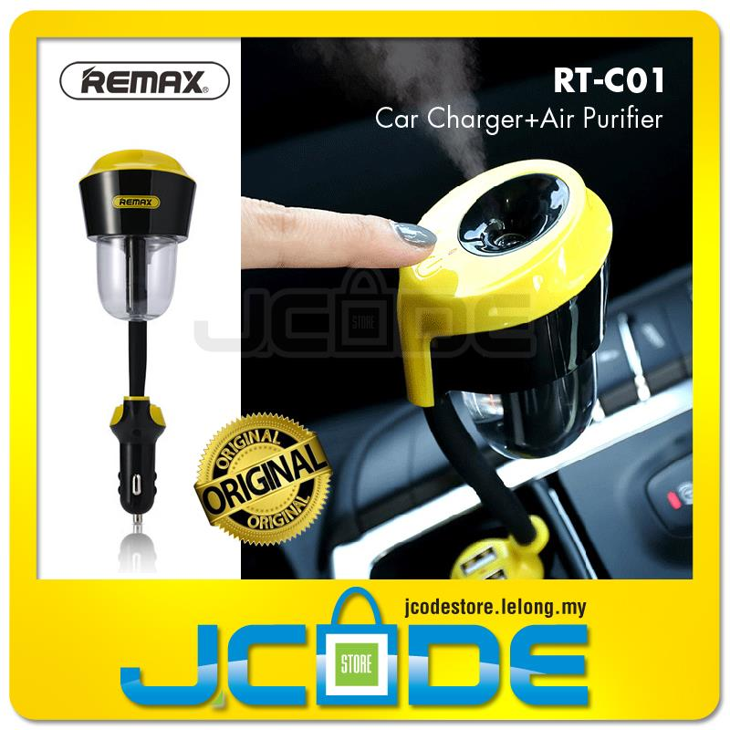 Remax Rt C01 Car Humidifier Air Purifier With 21a Car Charger Source Remax .