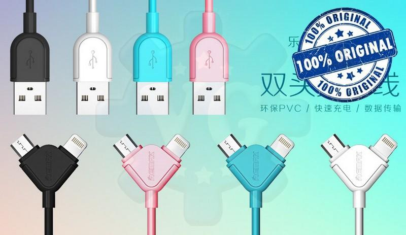 Remax Souffle 2in1 Turbo Charge Micro Lightning USB Cable Sales!!Offer