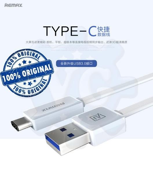Remax USB Type C USB 3.0 Cable Turbo Charge Flat 2.1amp