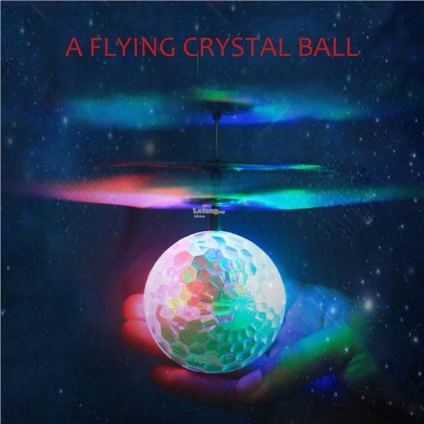 Remote Control Aircraft Infrared Induction With Crystal Ball LED Light