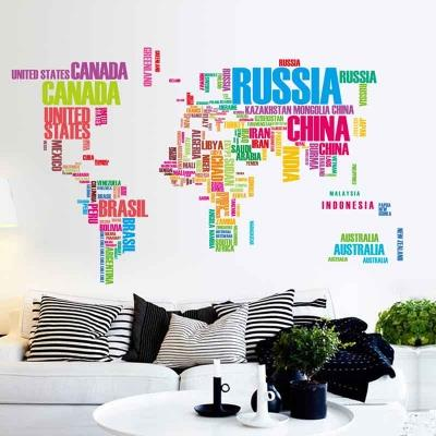 Removable english alphabet world map end 4132018 115 pm removable english alphabet world map wall stickers living background gumiabroncs Images