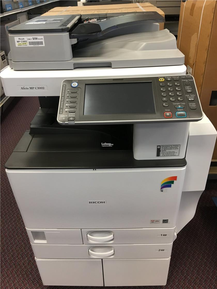 Ricoh Aficio MP C3002 Printer PCL6 Windows 8
