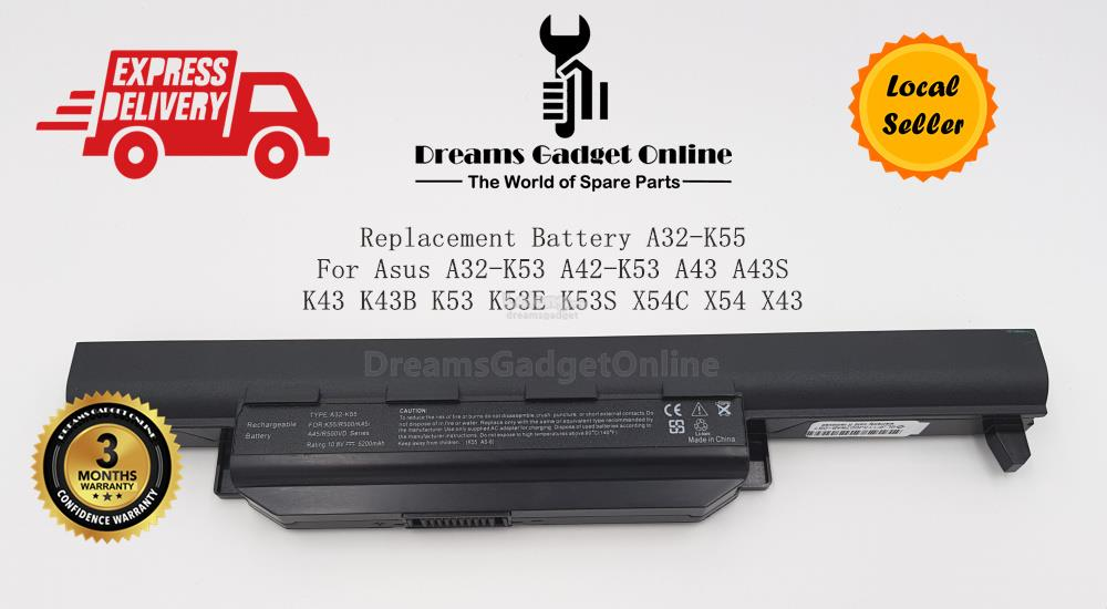 Replacement Battery A32-K55 For Asus A32-K53 A42-K53 A43 A43S K43 K43B