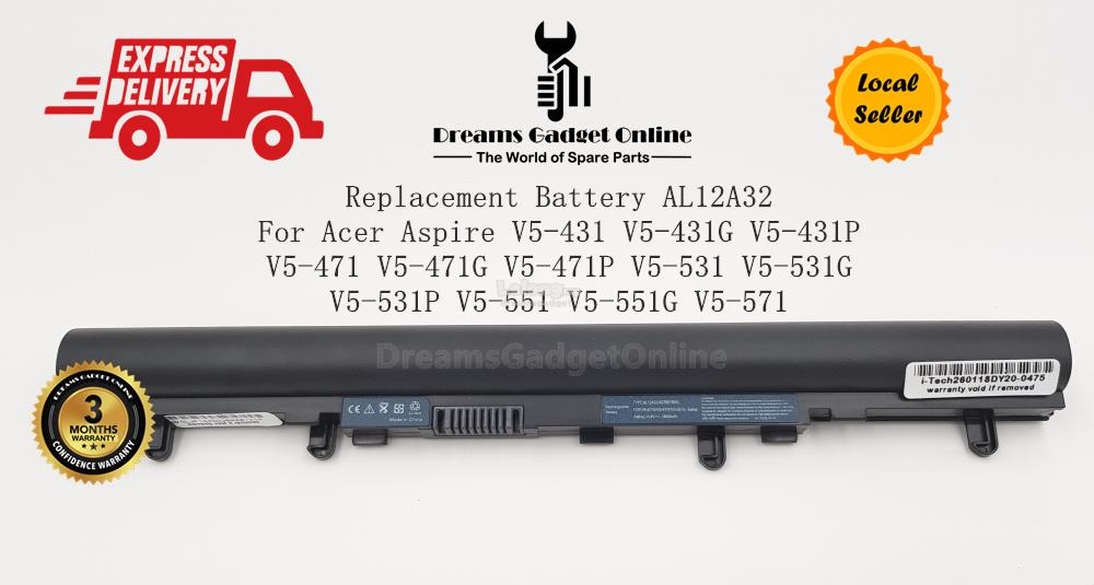 Replacement Battery AL12A32 For Acer Aspire V5-551 V5-551G V5-571