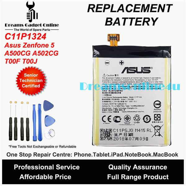 Replacement Battery C11P1324 ASUS Zenfone 5 A500CG A502CG T00J T00F